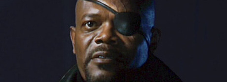"Samuel L. Jackson in a stinger from ""Iron Man"""